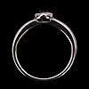 Ring, briljantslipad diamant ca 0.30 ct uppskattningsvis w/si. 18k vitguld. vikt 7,3 g.