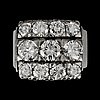 A diamond, circa 2.20 cts, ring.