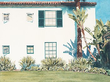 "417. Robert Bechtle, ""Santa Barbara Garden""."