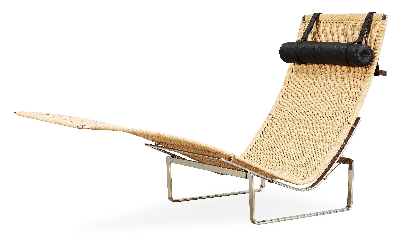 A Poul Kjaerholm U0027PK 24u0027 Steel And Rattan U0027Hammock Chairu0027, Fritz Hansen,  Denmark.   Bukowskis