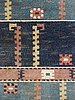 "Carpet. ""ståndaren"". knotted pile (flossa). 248 x 188 cm. signed ab mmf."