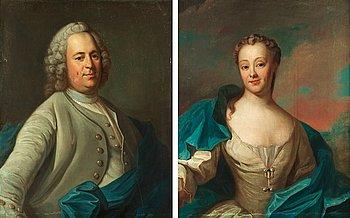 """197. Per Krafft d.ä. Tillskrivna, """"Paul Pijhlgardt"""" (1713-1775) och hans maka """"Regina Reimers"""" (1721-1773)."""