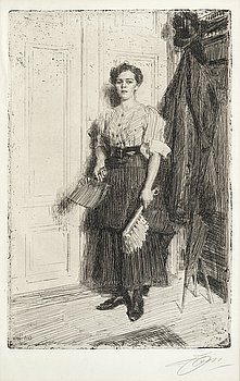 "109. Anders Zorn, ""The new maid""."