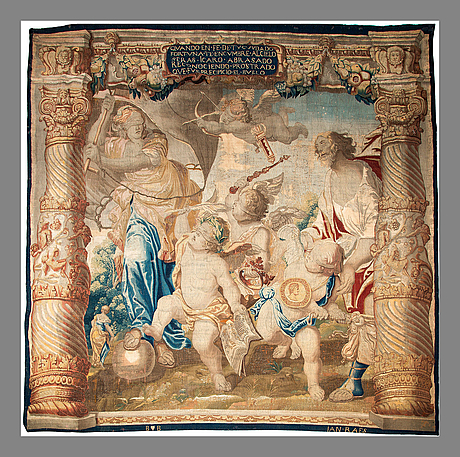 A tapestry, sign. early 17th century, brussels