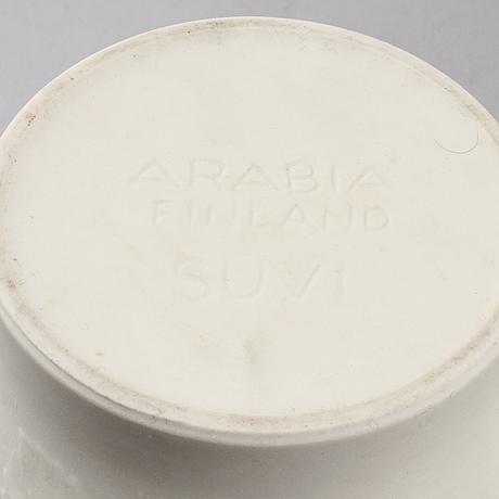 "Ytterfoder, 4 st, biskvi, ""suvi"", gunvor olin grönqvist, arabia, 1900 talets andra hälft"