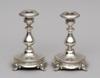Ljusstakar, ett par, silver, stockholm, 1886.