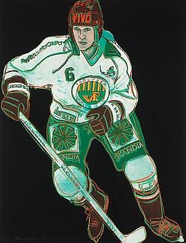 """213. Andy Warhol, """"Frolunda Hockey Player""""."""