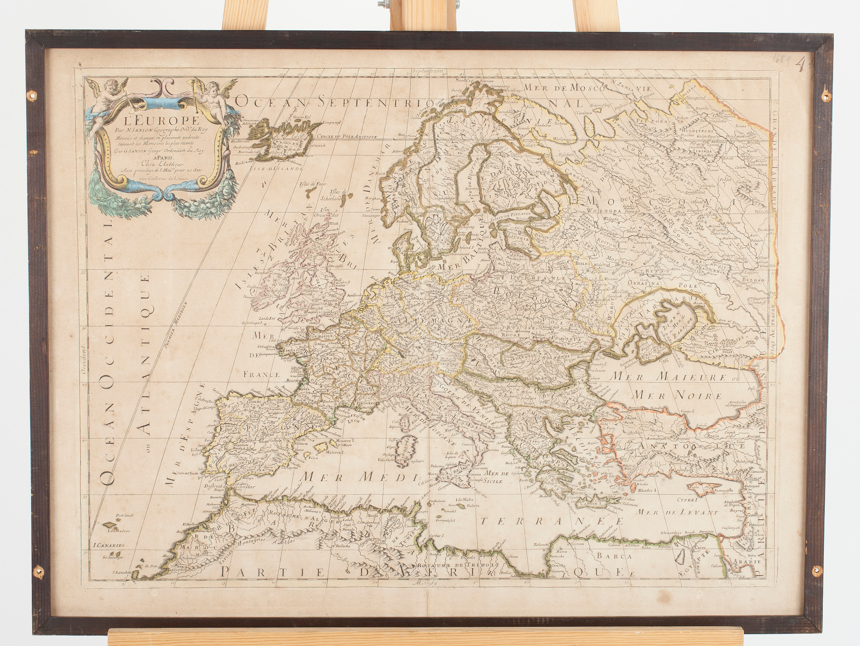 Karta L Europe Nicholas Sanson Frankrike 1600 Talets Slut Bukowskis