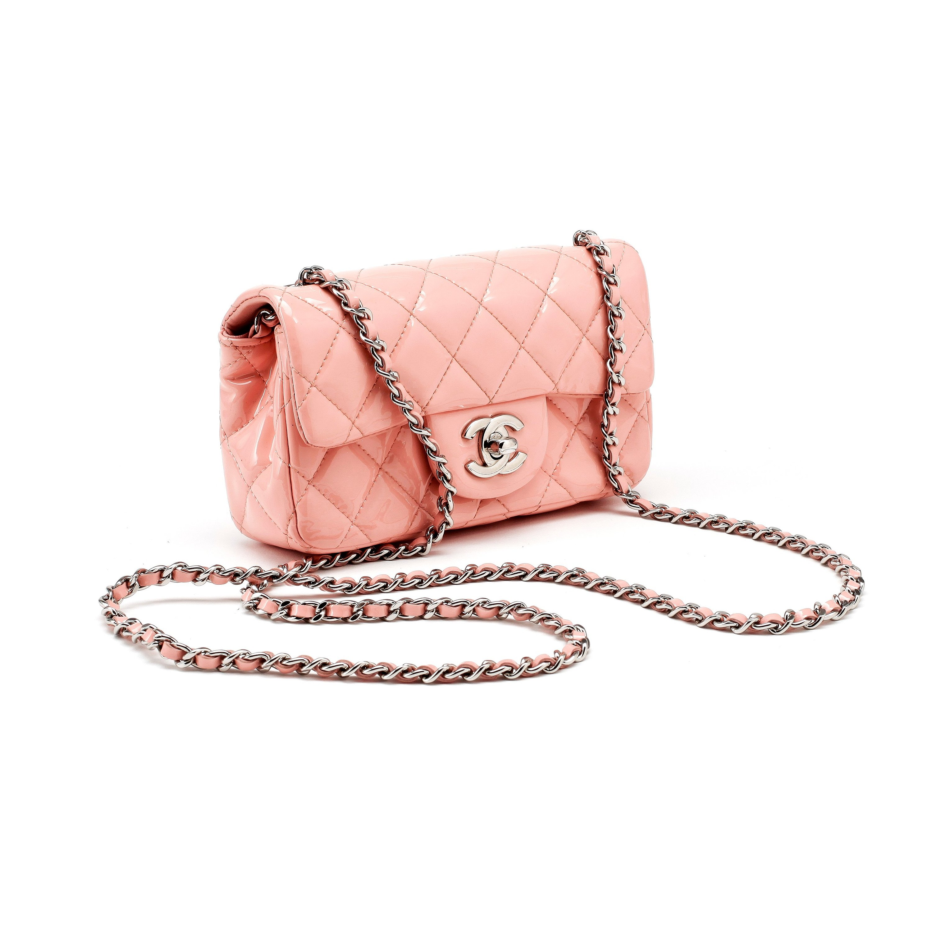 1a2f3d6e CHANEL, a mini pink quilted patent crossbody bag. - Bukowskis