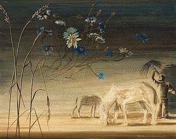 "105. Axel Olson, ""Den vita hästen"" (The white horse)."