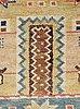 "Carpet. ""slottet"". knotted pile. 295,5 x 200,5 cm. signed mmf."
