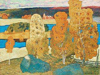 """11. Helmer Osslund, """"Höstdag, Fränsta"""" (Autumn Day, Fränsta)."""