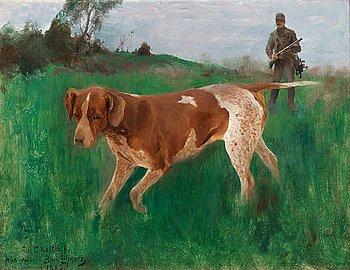 15. Bruno Liljefors, Gustaf Kolthoff hunting.