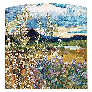 6. Helmer Osslund, Spring landscape.