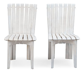 3. Alvar Aalto, A SET OF TWO GARDEN CHAIRS.