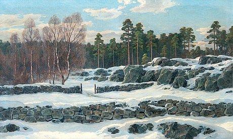 Thure sundell, winter landscape.