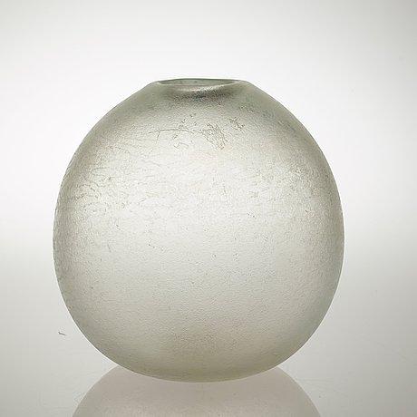 A carlo scarpa 'corroso' glass vase, venini, murano, italy, ca 1940.