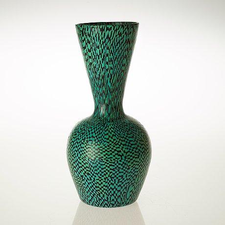 A paolo venini 'murrine' glass vase, venini, murano, italy, 1950's.