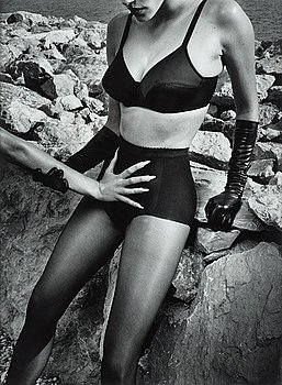 """315. Helmut Newton, """"Wolford Woman and Hand on Body"""", 1995."""