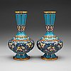 A pair of cloisonné vases, china, first half of 20th century.