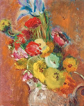 101. Sigrid Hjertén, Still life with flowers.