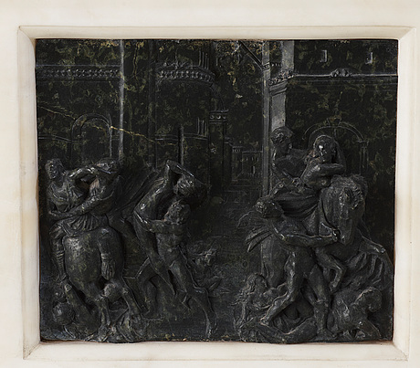 """Giovanni bologna after, """"the rape of the sabines""""."""