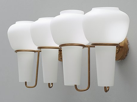 A pair of hans agne jakobsson wall lamps, markaryd, sweden 1960's-70's.