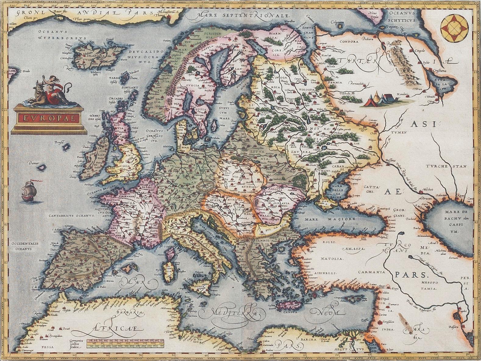 Karta Europa 1700 Tal Bukowskis