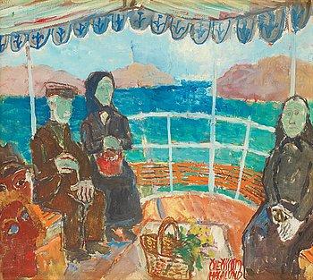 14. Olle Olsson-Hagalund, The ferry to Gullholmen.