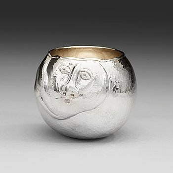 608. An Olle Ohlsson sterling vase.
