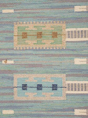 Rug. flat weave. 219,5 x 176 cm. sweden 1940's-50's.