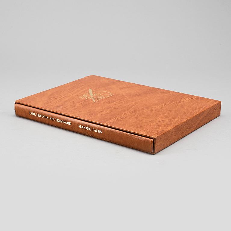 """CARL FREDRIK REUTERSWÄRD, bok med litografi """"Making Faces"""", båda signerade och numrerade 3/100, 1984."""