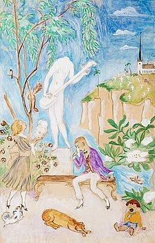 """33. NILS VON DARDEL, """"Den sönderslagna statyn II"""" (The broken statue II)."""