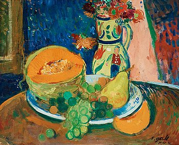 208. Francois Gall, Still life with fruit.