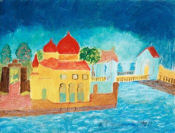 16. Primus Mortimer Pettersson, City in sunset.