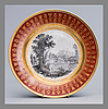 Tallrik, porslin. kejserliga porslinsmanufakturen i s:t petersburg 1809 1817