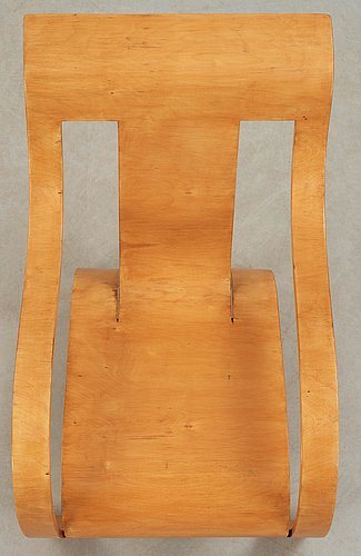 A gerald summers laminated birch easy chair, makers of simple furniture, england ca 1935-40.
