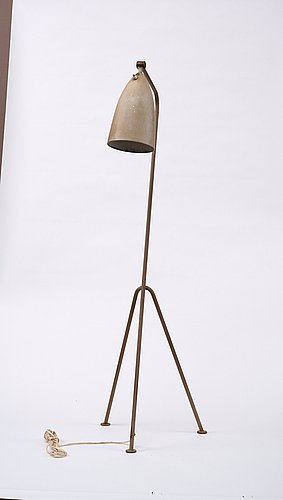 A greta magnusson grossman 'grasshopper' floor lamp, bergboms, malmö, sweden 1950's, model g-33.