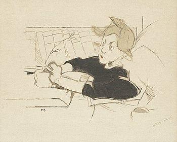 "104. Helene Schjerfbeck, ""Konvalescenten""."