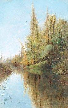 3. Julia Beck, River landscape, Grez-sur-Loing.