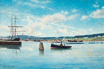 9. Carl Johansson, Harbour scene from Härnösand.