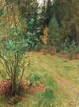 "100. Anders Zorn, ""Landskap från Gopsmor"" (Landscape from Gopsmor)."
