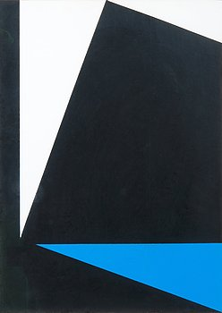 307. Lars-Gunnar Nordström, COMPOSITION WITH BLACK, WHITE AND BLUE.
