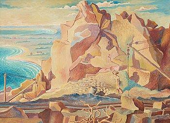 "106. Axel Olson, ""Landskap"" (Haverdal)."