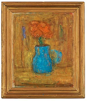 "113. Carl Kylberg, ""Blå kruka"" (Blue jar)."