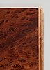 A josef frank burrwood veneer, mahogany and walnut cabinet, 'nationalmuseiskåpet', svenskt tenn, model 881.