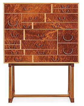 373. A Josef Frank burrwood veneer, mahogany and walnut cabinet, 'Nationalmuseiskåpet', Svenskt Tenn, model 881.