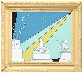 """365. MARIE-LOUISE EKMAN, """"Venus födelse II"""" (och en Olle Baertling-tavla)."""