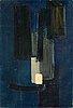 """Pierre soulages, """"peinture 58 x 40 cm, septembre 1951""""."""