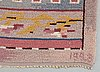 Carpet. knotted pile. 341 x 145 cm. signed mg 1928 (märtha gahn).